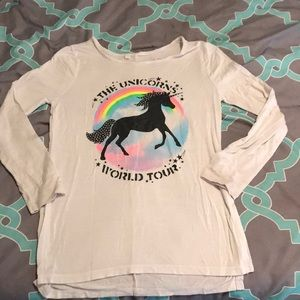 Justice long sleeve tee - Unicorns World Tour